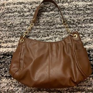 Brown Purse with gold hardware purse